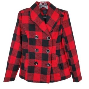 Rampage Buffalo Plaid Jacket Double Breasted small